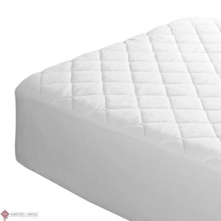 Protector de Colchón Acolchado Alm Tela-PVC Impermeable