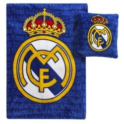 Plaid + Cojín Real Madrid...