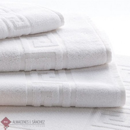 Toalla Hostelería Greca Blanca 100% algodón