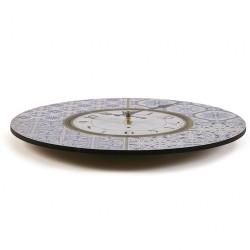 Reloj de MADERA VERSA ALFAMA AZUL 29 CM.