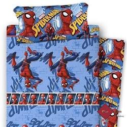 Juego de Sábanas Spiderman SPLAT AZUL CELESTE